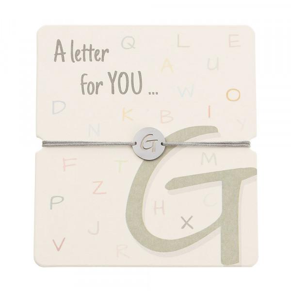 Armband mit Buchstaben - G