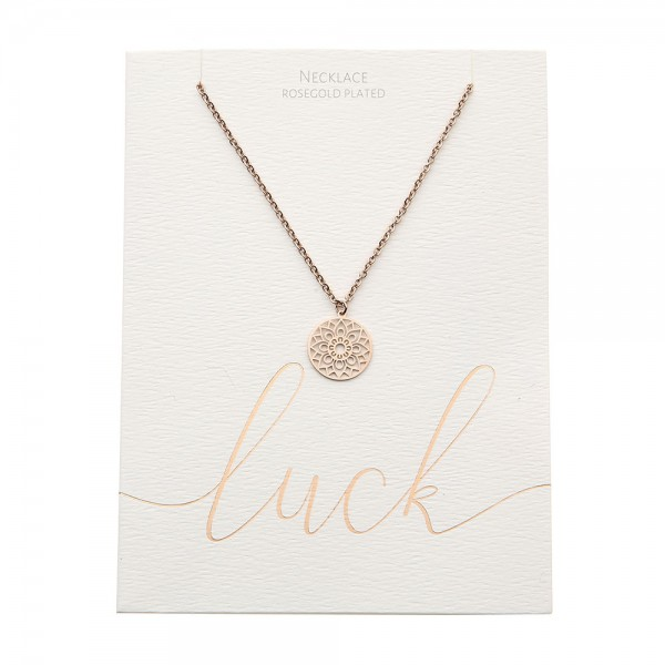 Necklace - Rosegold-Plated - Mandala Of Luck