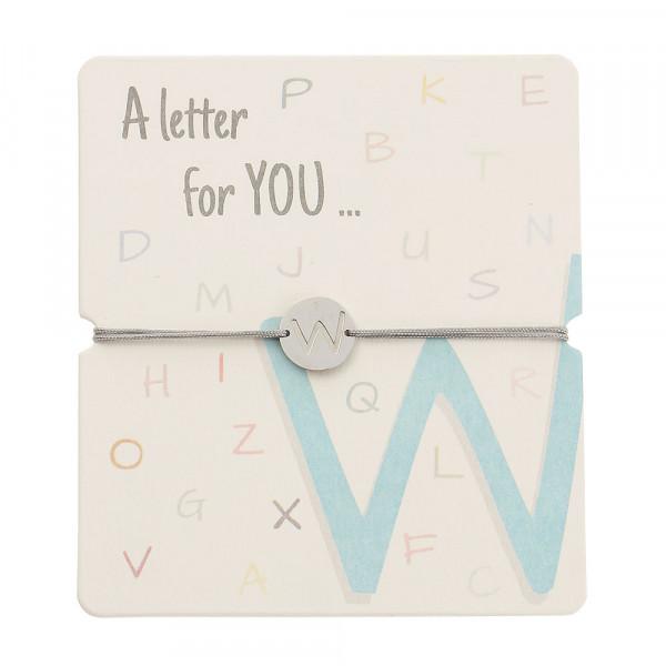 Armband mit Buchstaben - W