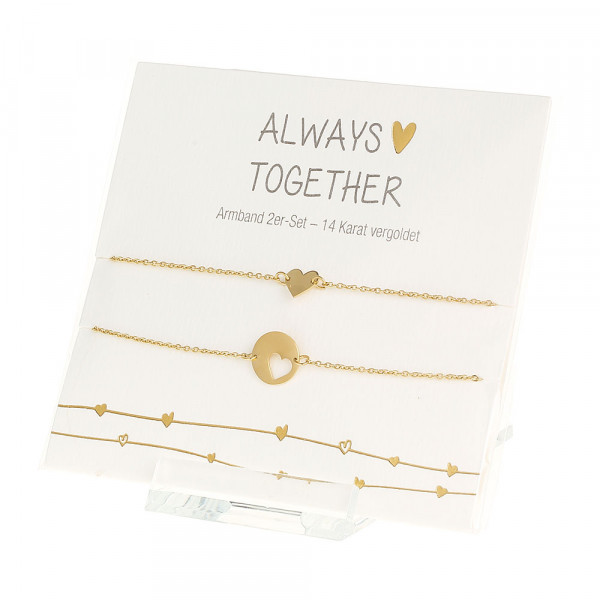 Armband - Always together - vergoldet