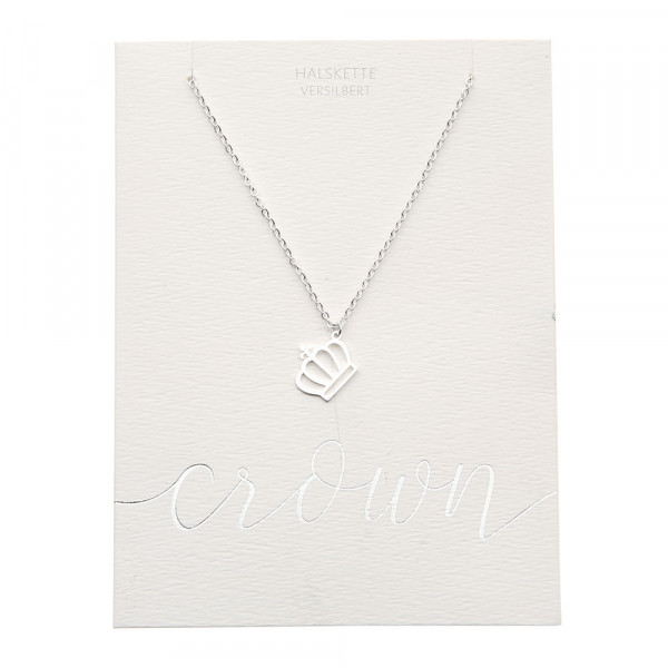 Necklace - Silver Plated - Crown