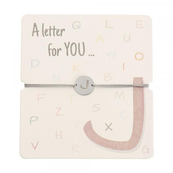 Armband mit Buchstaben - J