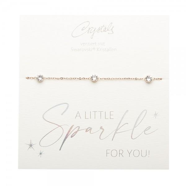 Armband - Sparkle - rosévergoldet - Kristall