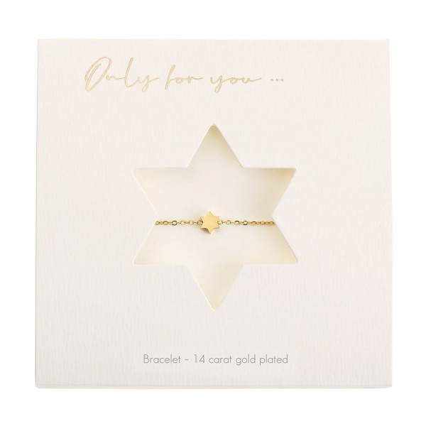 Bracelet - Only For You - Star - Gold-Plated