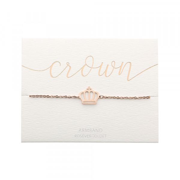Armband - rosévergoldet - Krone