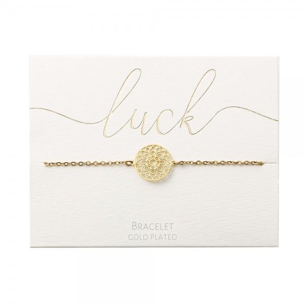 Bracelet - Gold-Plated - Mandala Of Luck