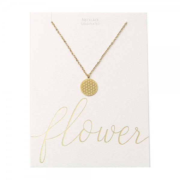 Necklace - Gold-Plated - Flower Of Life