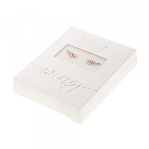 Studs Rose Gold Plated - Angel Wings