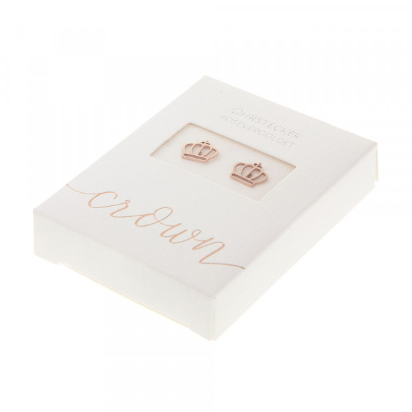 Studs Rose Gold Plated - Crown
