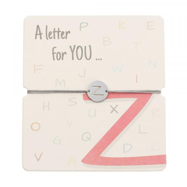 Armband mit Buchstaben - Z