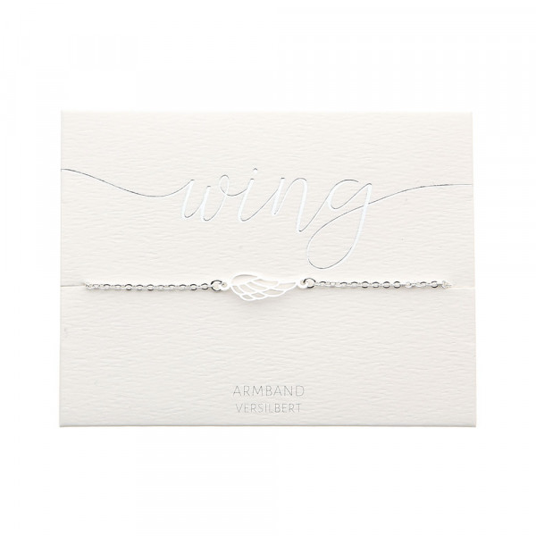 Bracelet - Silver Plated - Angel Wings