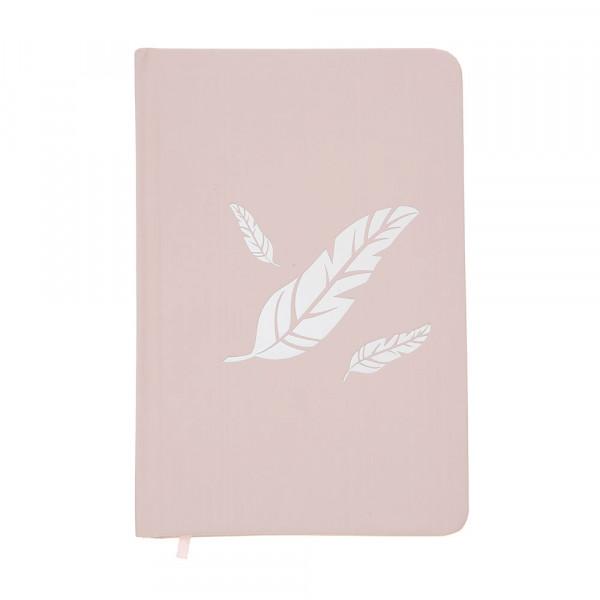 Notizbuch Engelsfedern - rosa
