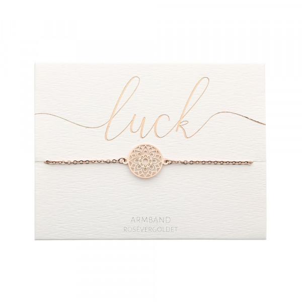 Armband - rosévergoldet - Mandala des Glücks