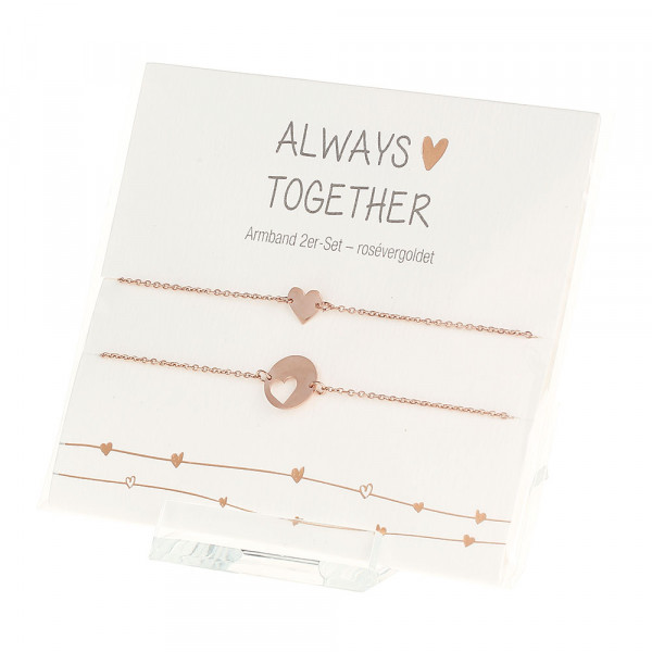 Bracelet - Always Together - Rose-Gold-Plated