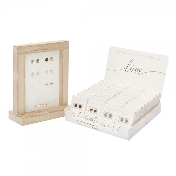 """Display Package """"Studs Silver Plated And Rose Gold Plated"""""""