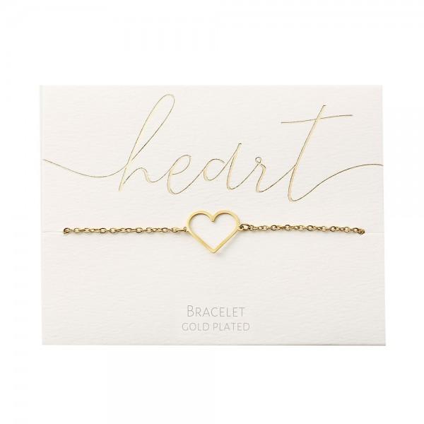 Bracelet - Gold-Plated - Heart