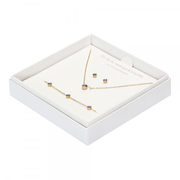 Gift Box - Sparkle - Gold Plated - Sapphire