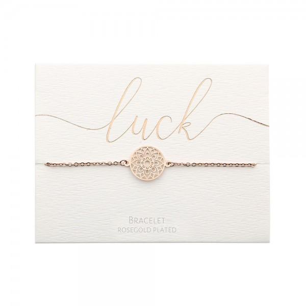 Bracelet - Rosegold-Plated - Mandala Of Luck