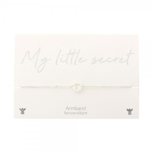 Bracelet - My little secret - Silver Plated- Guardian Angel