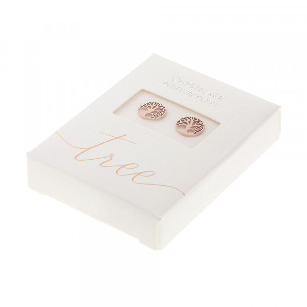 Studs Rose Gold Plated - Tree Of Life