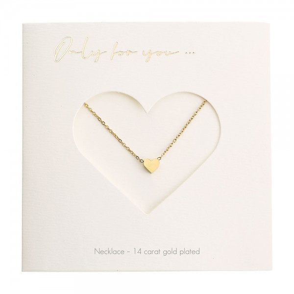 Necklace - Only For You - Heart - Gold-Plated