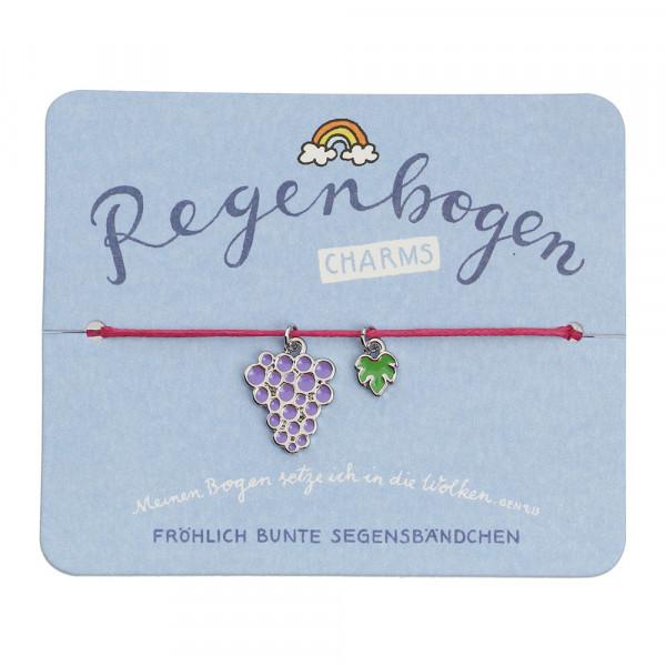 Segensarmbändchen Weintrauben & Blatt