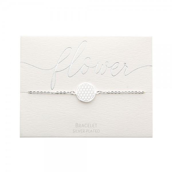 Bracelet - Silver-Plated - Flower Of Life