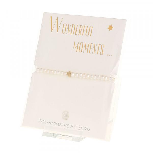 Armband - Wonderful moments - Stern - vergoldet