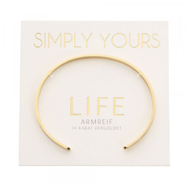 Armreif - Simply yours - vergoldet - Life