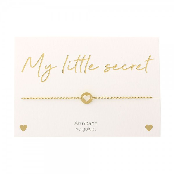 Bracelet - My little secret - Gold Plated - Heart