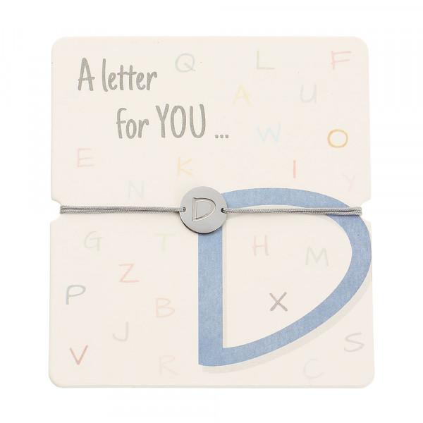 Armband mit Buchstaben - D