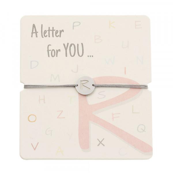 Bracelet With Letter - R