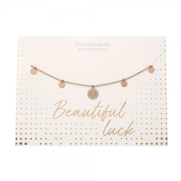 Armband - Beautiful - Mandala des Glücks - rosévergoldet