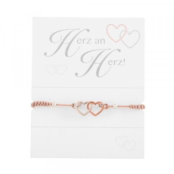 "Knotted Bracelet ""Hearts"""