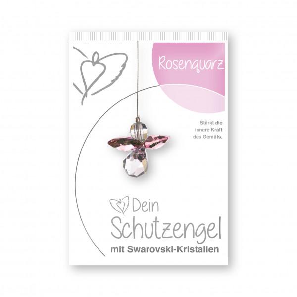"Schutzengel ""Rosenquarz""- im Blister"