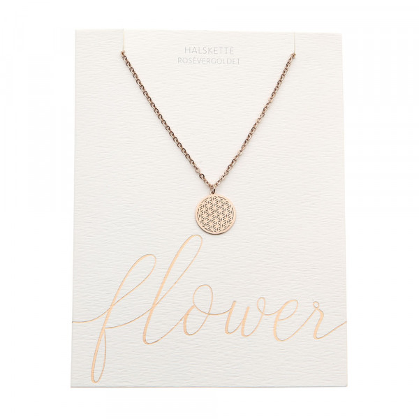 Necklace - Rose Gold Plated - Flower Of Life
