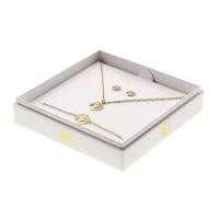 Geschenkset - Halskette-Armband-Ohrstecker - vergoldet - Baum des Lebens