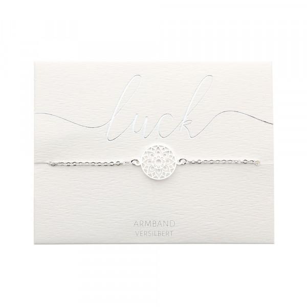 Armband - versilbert - Mandala des Glücks