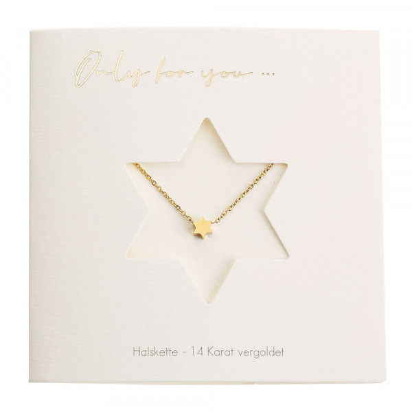 Necklace - Only For You - Star - Gold-Plated