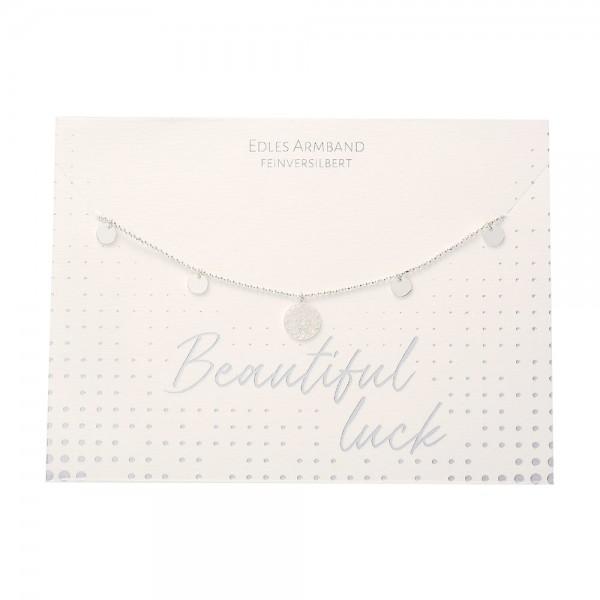 Armband - Beautiful - Mandala des Glücks - feinversilbert