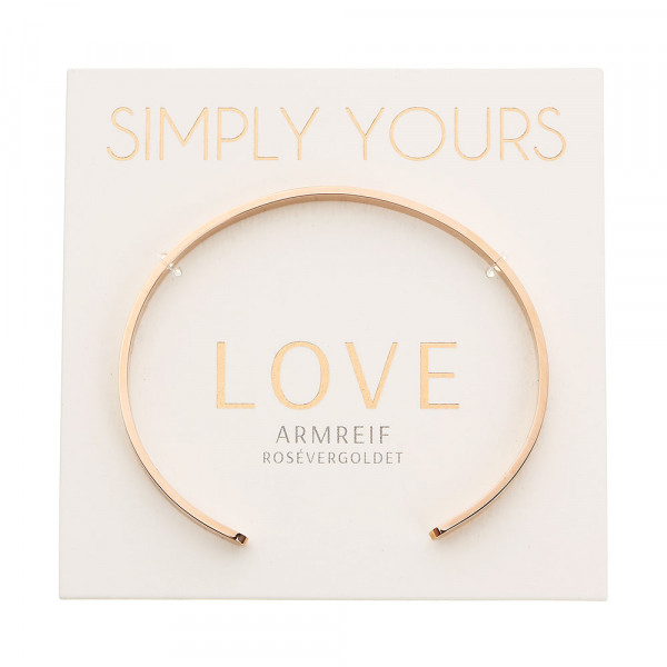 Bangle - Simply Yours - Rosegold-Plated - Love