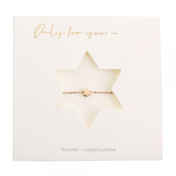 Bracelet - Only For You - Star - Rosegold-Plated