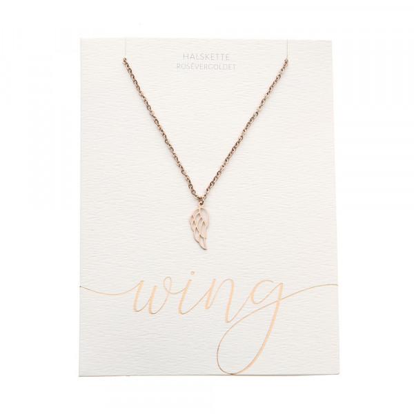 Halskette - rosévergoldet - Engelsflügel