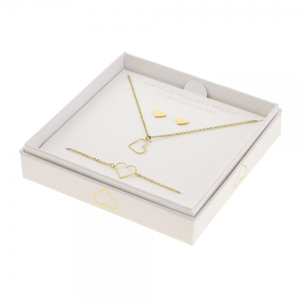 Gift Set Jewellery Gold-Plated - Heart