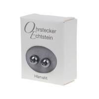 Ohrstecker - Echtstein - Hämatit