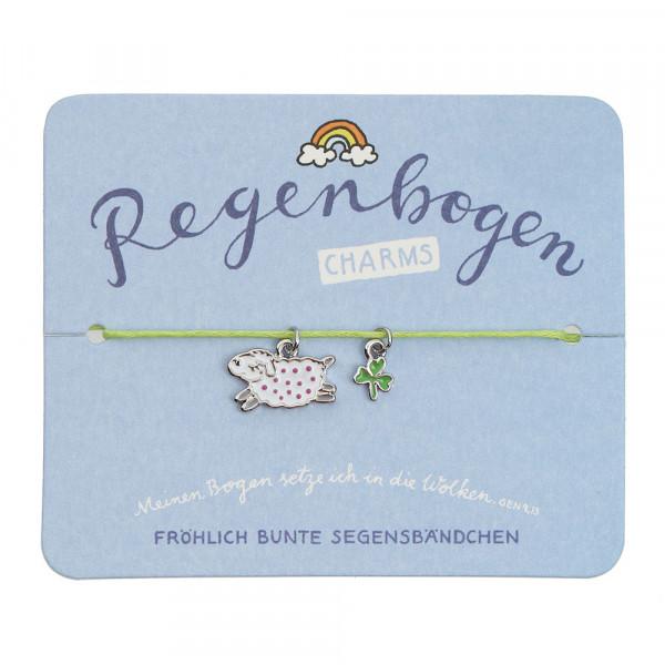Segensarmbändchen Schaf & Kleeblatt
