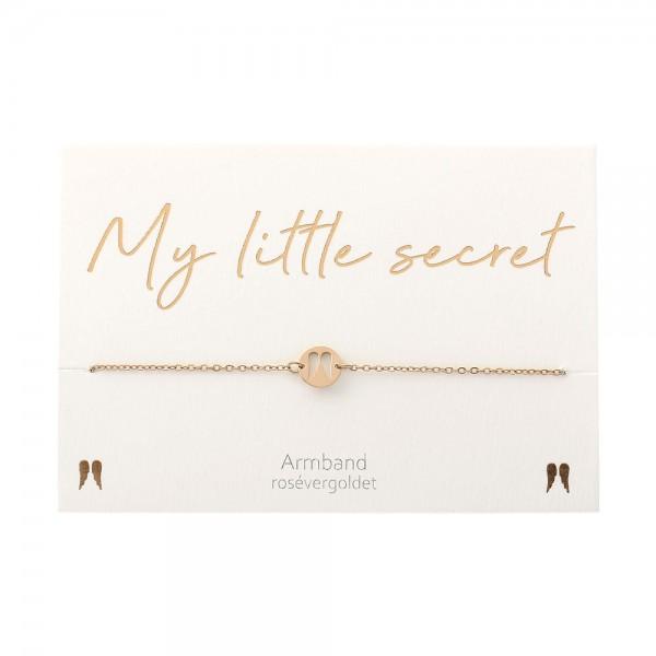 Bracelet - My little secret - Rose Gold Plated - Angel Wings
