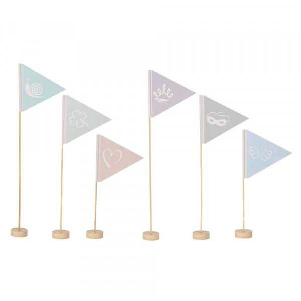Flaggen - Lieblingsmenschen - 6 verschiedene Motive - 3 Größen à 2 Stück