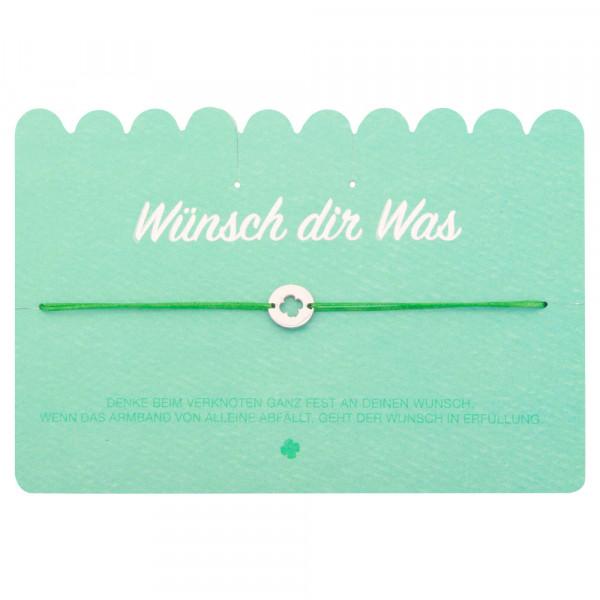 "Wunscharmband ""Kleeblatt"""