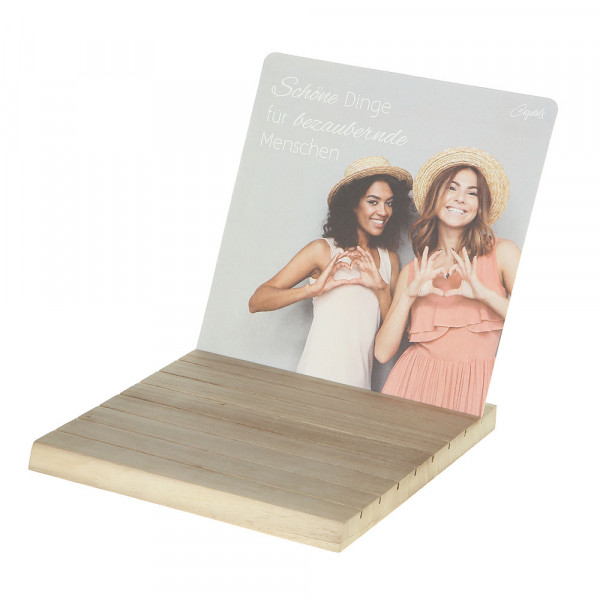 Wooden Display With Head Card